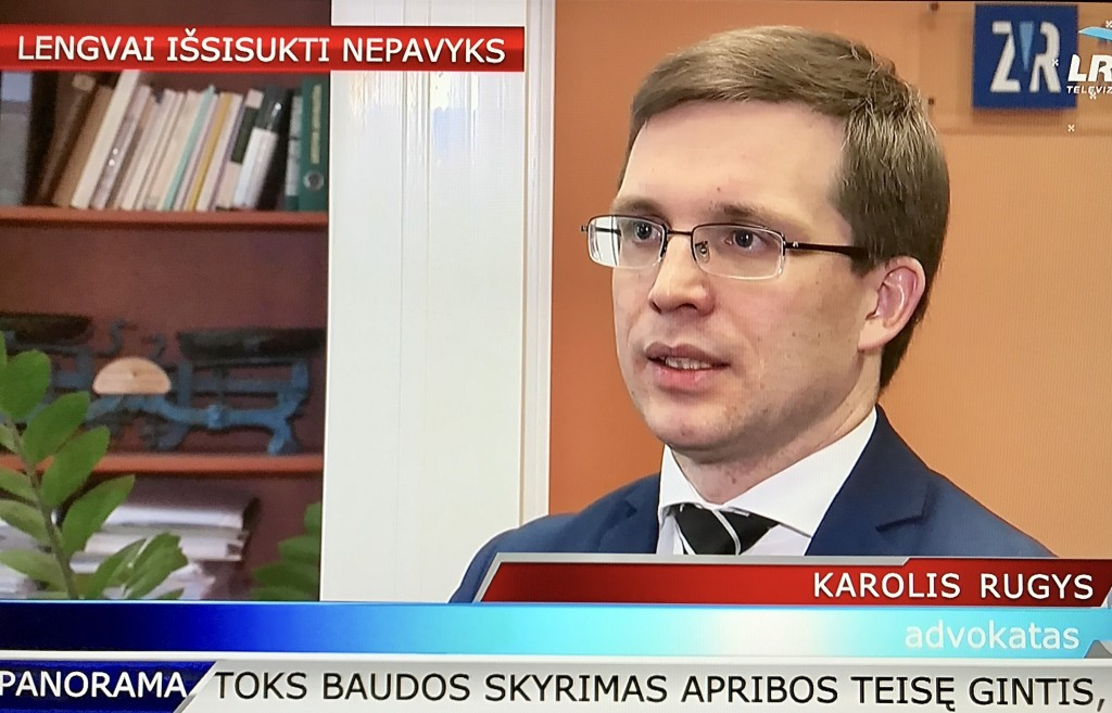 Karolis Rugys advokatas